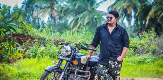Rajath Shenoy with his bike