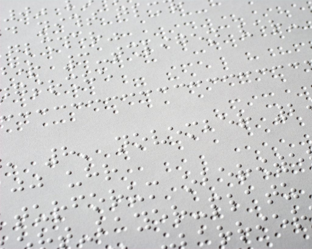 Reading A Braille Magazine