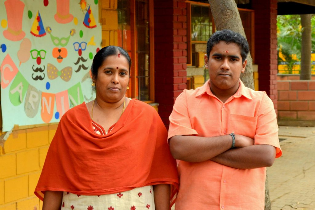 Pranav Varma with Mother Priya