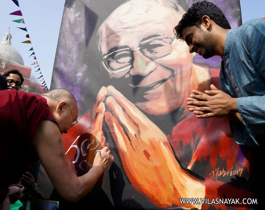 Vilas Nayak with Dalai Lama