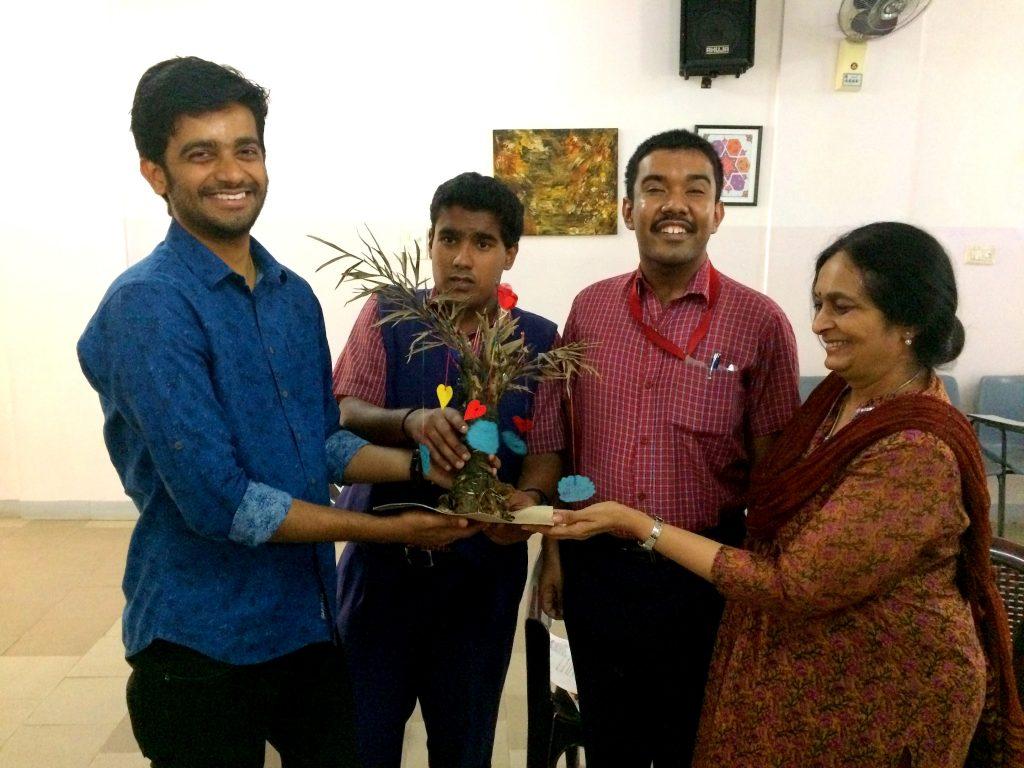 Vilas Nayak with Pranav Varma at SSK
