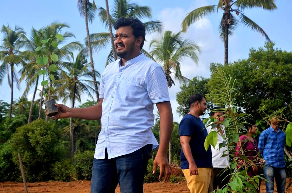 Prithviraj Jain - Planting saplings