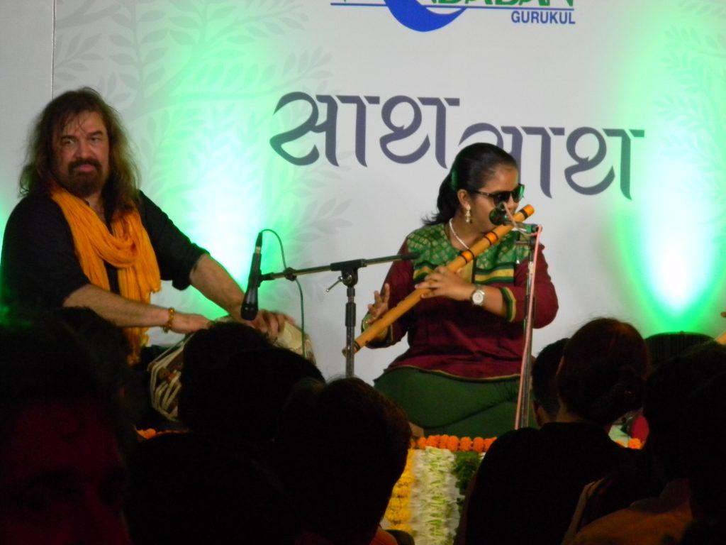 Krutika Janginmath playing the flute